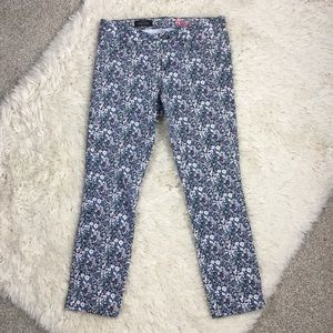 J. Crew liberty arts toothpick printed jeans